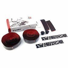 TUSK CB-0108UBHC EVA + PU Road Bike Handlebar Bar Tape Ribbon - Black x Red