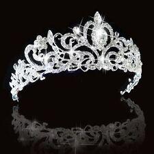 Bridal Bridesmaid Wedding Prom Crystal Rhinestone Diamante Crown Tiara Headband