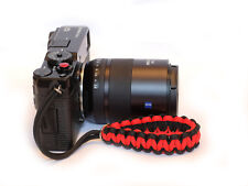 Red Convex soft release button + Paracord Wrist Strap Fuji XT2 XPro1 Pro2