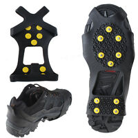 Non-slip Snow Cleats Anti-Slip Overshoes Studded Ice Traction Shoe Covers Spike
