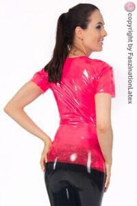 Latex DAMEN-Shirt - geniales T-Shirt in HOTPINK- Größe zur Auswahl
