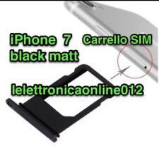 carrello porta SIM X Apple iPhone 7 nero matt carrellino ingresso nano Tray
