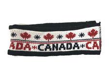 Canada Unisex Winter Knit Headband One Size Red Black Canadain Flag Fleece