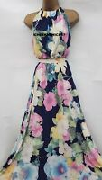 BNWT Monsoon Long Floral Maxi Dress - Size 16 - Wedding/Coast/Occasion/Party