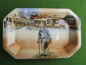 "Royal Doulton Dickensware Hand Painted ""Old Peggoty"" Pin Dish"