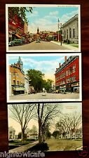 3 Postcards South Main & Main Streets Rochester New Hampshire NH 1910-1939 lot