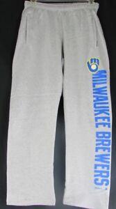 Milwaukee Brewers MLB Men's Adidas Reebok Sweatpants Gray M