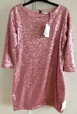 Topshop (Glamorous), Pink Sequined fitted mini Dress,Medium. Brand New with tags