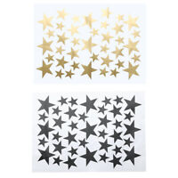 39pcs DIY Star Wall Stickers Five-pointed Star Removable Home Wall Decor Neu