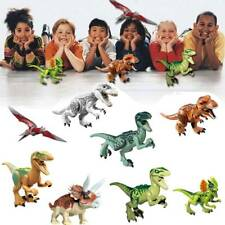 Jurassic World Dinosaurs Brick Blocks 8Pcs Indominus Rex T-Rex Ptera Kids Fun