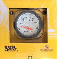 """Auto Meter 5791 Phantom Voltmeter Volt Meter Gauge  2 1/16"""" 8 - 18 Volts 52mm"""