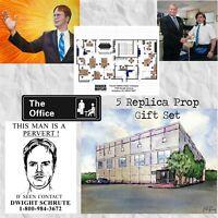 The Office Replica Prop Gift Set Dunder Mifflin Watercolor Michael Dwight Art