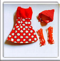 Barbie Red Summer Floral Dress Outfit Clothes