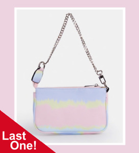 Rainbow Pastel Pink Blue Escale Mini Pochette Accessories Tie Dye Handbag Bag