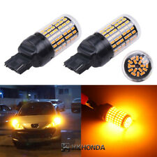2pc Yellow T20 Car Light Bulbs 12V 7440 LED Lamp Turn Signal No Hyper Flash