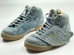 Adidas Originals sneakers Jeremy Scott Wings Denim shoes JS Blue v24621 size 7,5
