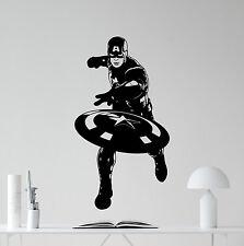 Captain America Wall Decal Avengers Superhero Vinyl Sticker Decor Mural 59zzz