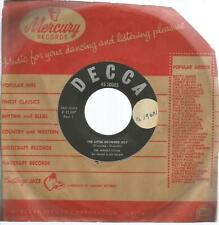 45 TOURS 2 TITRES / THE  BEVERLY SISTERS  THE LITTLE DRUMMER BOY       B12