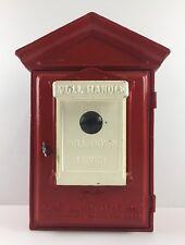 Gamewell Fire Alarm Pull Station Newton Ma. Herculite Pat. Jan 1 1924 WITH KEY