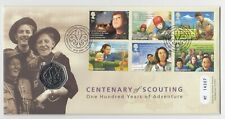 2007 50p Fifty Pence Centenary of Scouting  Coin Cover FDC PNC