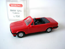 BMW 325 i CABRIOLET ROUGE - WIKING - 13 191 - ECHELLE H0 1/87
