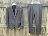 Jos. A. Bank Traveler's Collection Gray 2-Button Suit 41R Blazer Pants 2pc Set