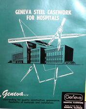 GENEVA Acme Steel Catalog Colorlith Counter Tops ASBESTOS Use in Hospitals! 1962