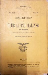 BOLLETTINO DEL CLUB ALPINO ITALIANO PER L'ANNO 1893 - NUM. 60