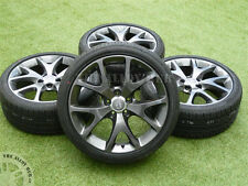 GENUINE VAUXHALL CORSA D VXR ARTIC EDITION ANTRHACITE 18INCH ALLOY WHEELS+TYRES
