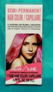 SEMI-PERMANENT HAIR COLOR = BLUSH (Rose) for Bleached/Blonde/Highlighted Hair