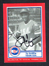 Ty Griffin #2 signed autograph auto 1990 US Federation Team USA Card