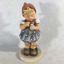 "Goebel Hummel Figurine # 380 ""Daisies Don't Tell"" Tmk6 Master Painter Signed 5"""