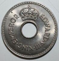 Fijian One Penny Coin 1936 - KM# 6 - Fiji - Abdicated King Edward VIII - RARE! 1