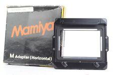 Mamiya M Adapter (Horizontal) for Mamiya Press and Mamiya RB w/ Original Box  #P