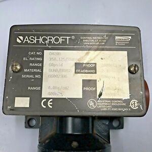 ASHCROFT Differential Pressure Switch D-Series D420B 60 psi  NEMA 4X