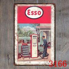Esso Gas Station Metal Tin Sign Decor Bar Pub Home Vintage Retro Poster