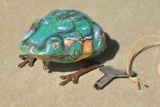 Vintage Wind Up Litho Frog Tin Toy , Japan ?