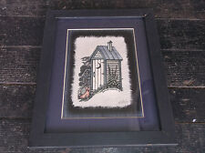 RICHARD NEUMAN Dog Outshide OUTHOUSE Signed Art Print Framed Picture