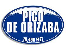 """5"""" pico de orizaba mexico blue mountain bumper sticker decal made in usa"""