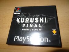 Kurushi Final Mental Blocks for PS1 rental version pal version