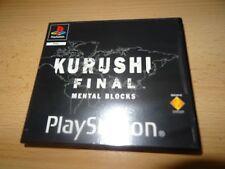 KURUSHI FINAL BLOCCHI mentali per PS1 VERSIONE NOLEGGIO PAL VERSIONE