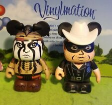 "Disney Vinylmation 3"" Park Set 1 Lone Ranger and Tonto Johnny Depp"