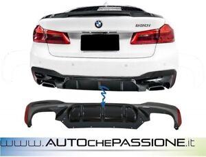 Sotto paraurti posteriore BMW serie 5 G30 G31 (2017-up) M5 Design abs nero