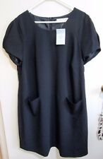 GINGER TREE  size 18  Black Lined Knee Length Dress  BRAND NEW w/TAGS