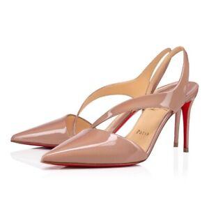 Christian Louboutin Pumps Brandina Pointed Toe Slingbacks Pumps Shoes 37.5 Heels