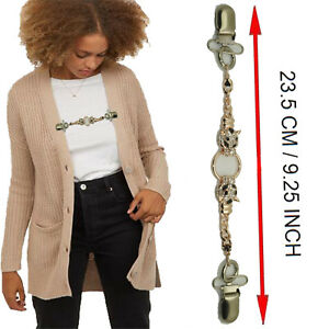 Retro Cardigan Clip Sweater Clip Women Filigree Cinch Back of Dresses Shawl Clip