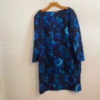 DAISY FUENTES BLUE FLORAL DRESS SIZE XL