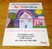 15th Annual International Children's Art Exhibition Los Angeles Poster 1985