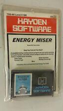 Energy Miser by Hayden for TRS-80 Level II 16k 1979 Tape version