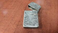 "STERLING SILVER LIGHTER CASE COVER 2 3/16"" x 1 1/18"" 15.5g NICE CONDITION"